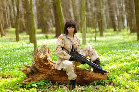 Sexy Military Girl  photo