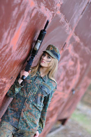 Sexy Military Girl  photo
