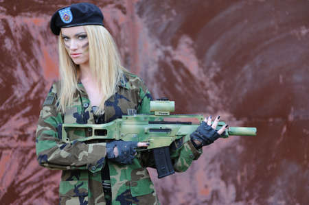 female sexuality: Sexy Military Girl