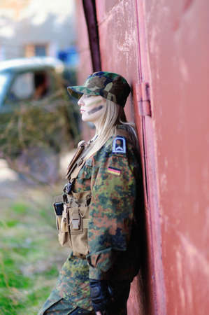 Sexy Military Girl  Stock Photo - 12037542