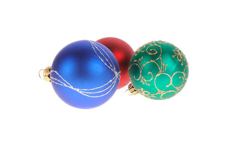 christmas ball isolated on the background Stock Photo