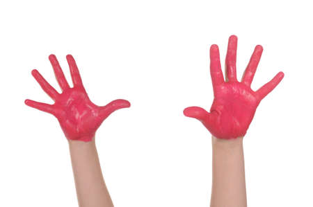 painted hands: Children painted hands