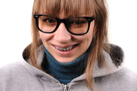 Student with braces photo