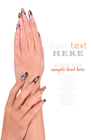 Beautiful Female Hands manicure concept Stock Photo - 13046695