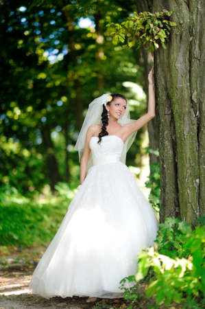 portrait of attractive bride Stock Photo
