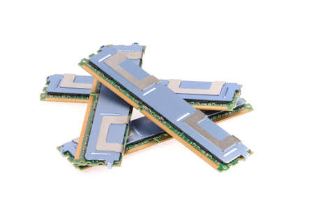 ddr3: Computer memory modules on the white background