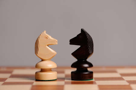 chess piece: wooden chess pieces with chess desk