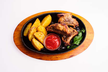 roasted chicken legs with vegetables and potato