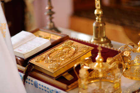 bible altar: church Bible on the altar