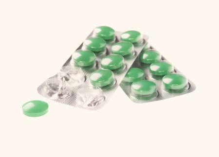 packs of pills: Pills in blister packs isolated on white background