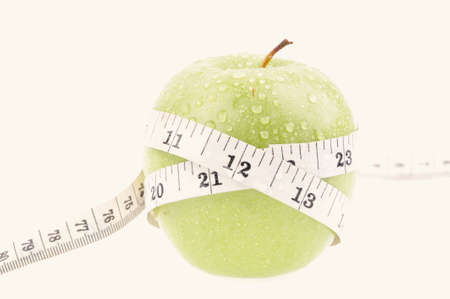 measured: Green apple measured the meter