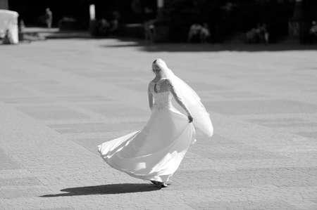 Beautiful portrait of the bride  outdoor