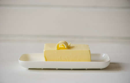 piece of butter on a desk