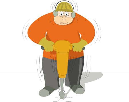 presslufthammer:  Arbeitnehmer, die den Boden mit einer Jackhammer Bohren