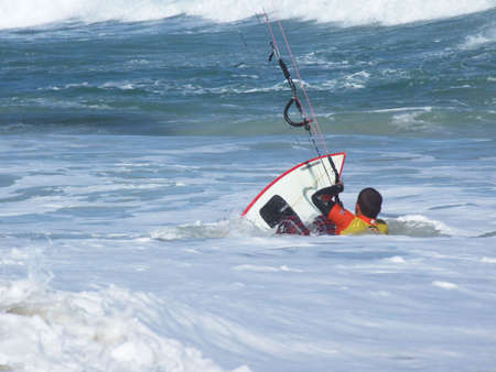kite surfing: Kitesurfen in Florianopois - Brazilië