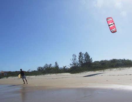 kitesurfen: Kitesurfen in Florianopolis - Brazilië