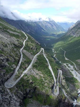 Mountain road Trollstigen in Norway Stock Photo - 654674