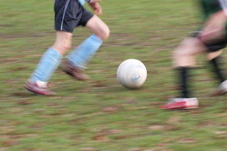 joueurs de foot: Joueurs de football - image floue de mouvement