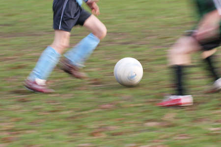 Soccer players - motion blurred picture