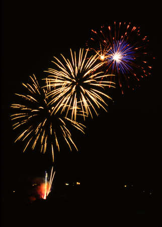 Firework in a historical town - Wissembourg - France Stock Photo - 661693