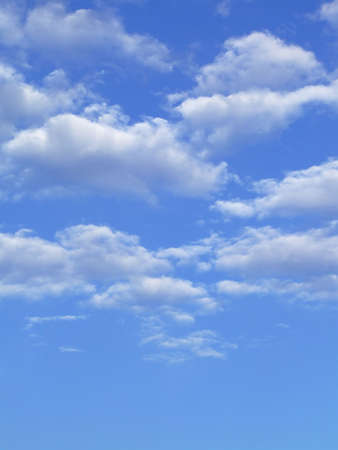 Blue sky with white clouds - vertical image Stock Photo - 758279