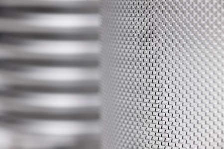 Detail of a screening machine in silvery grey - selective focus Standard-Bild