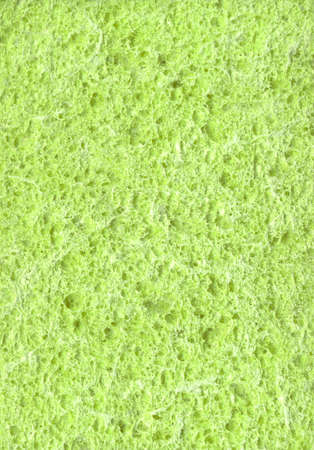 New light lime color artificial synthetic cushion polyurethane styrofoam swab wiper design for soft wet soak absorb water home use or carwash scourer. Detail spongy closeup view with space for text