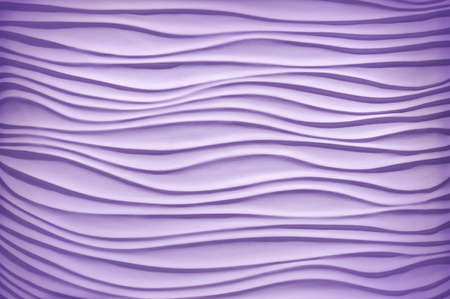 Luxury fancy template in form of sand dunes bend shape in plain air style with soft clear shadow. Beautiful pastel Mauve color artistic gesso emboss build fond design. View closeup with space for text