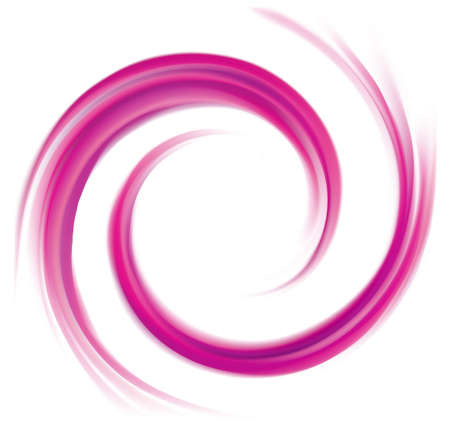 Radial rippled curvy backdrop mauve color with glowing white center. Twirl fluid pink surface