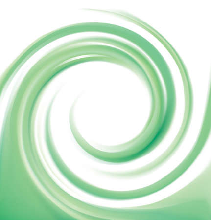 Glossy smooth shiny creative mix wavy eddy bio jade aqua radial curvy fond with space for text in white center of funnel. Gel fluid cream surface vivid malachite mint color