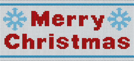 Vector seamless background. Merry Christmas ornament for knitting Иллюстрация