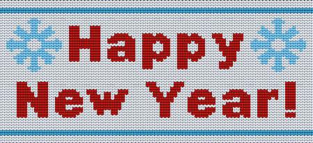 Vector background. New Year's ornament for knitting Illusztráció