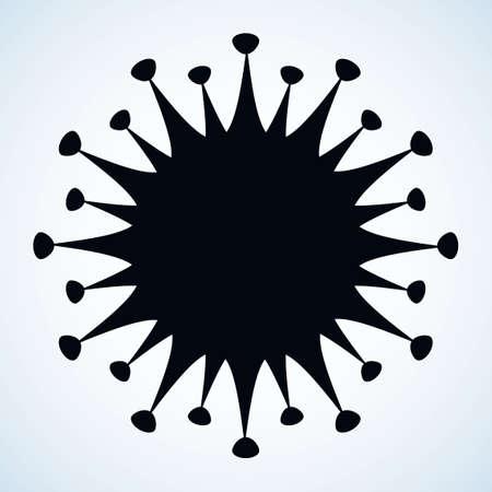 Novel sars H1n1 organic viral dna hazard risk warn virology care set element view white backdrop. Иллюстрация