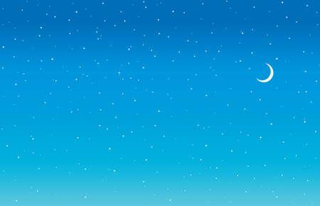 Bright calm tranquil serene glitter starlit spark twinkle dusk dust cloud nightfall shape beauty concept. Cute art fantastic nobody nighttime sparkle design draw crescent element cartoon style text
