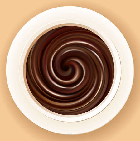 Vector background of mixed cream in a bowl 일러스트