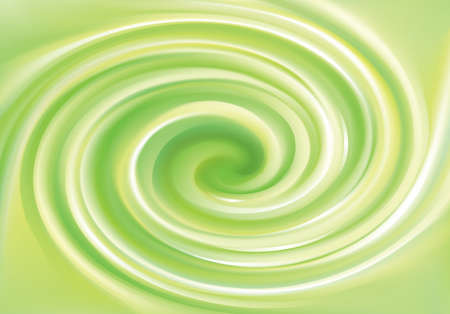 Vector art fancy modern elegant creative wonderful wavy eddy futuristic pea color backdrop of glossy rippled curvy spraying surface. Closeup view with space for text in middle of funnel Hình minh hoạ