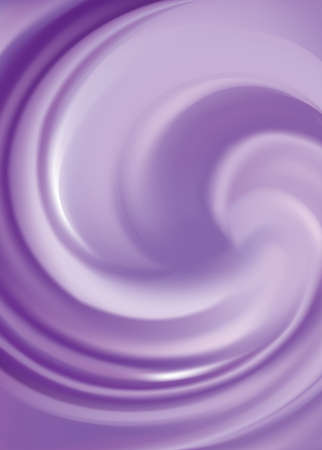 Glossy curvy fond with space for text in dark center. Fluid surface. Appetizing jelly of juicy berries lavender color: dewberry, whortleberry, plum Ilustracja