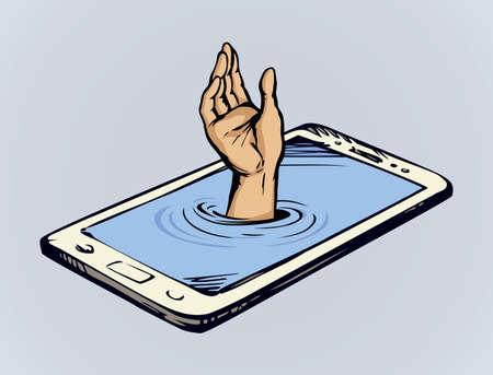 Flat ui pc device palmtop data www app white text space. Ask life reach raise up male boy user arm finger symbol. Comic art drawn sea dive suck human risk phub sink tech net site info sos sign icon
