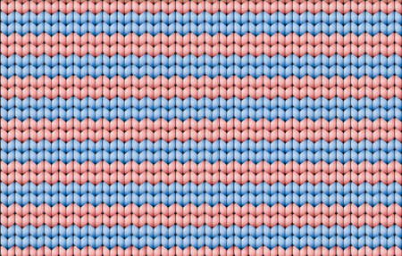 Vector seamless pattern. Abstract ornamental background in form of a knitted fabric with white and red stripes
