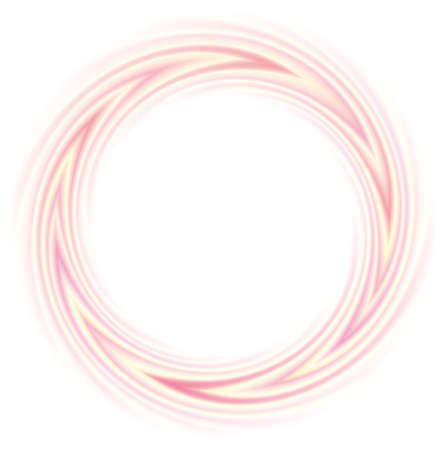 Vector round frame from the gently flowing pink and yellow lines swirling Ilustrace