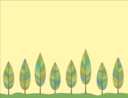 Vector ornament. The decorative background of a stylized tree Stock fotó - 156656490