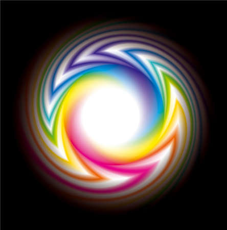 Vector frame of the rainbow-colored bands of the spectrum moving from a black background to white