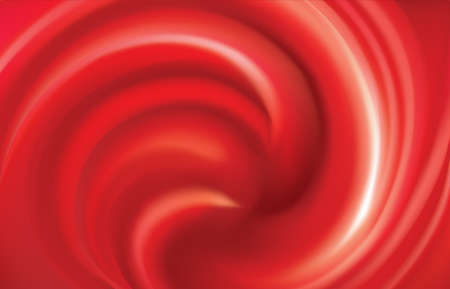 Glossy wavy eddy scarlet cycle fond. Fluid curl surface vivid claret color with space for text in dark center. Appetizing dessert pudding mix of vibrant ruby cherry, bilberry, cowberry, foxberry