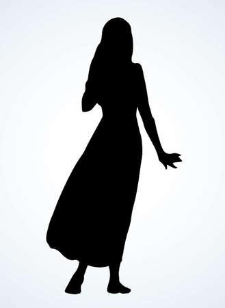 Bedouin pray express guy turban qameez hat. Black ink drawn old bible human point faith sign icon symbol. Retro biblic jewish history cartoon prayer. Asia kandura thobe robe tunic rear behind jew view Vektorové ilustrace