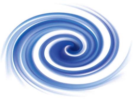Vector wonderful futuristic soft curvy ultramarine rippled fond with space for text. Beautiful volute surface vivid deep cobalt iris color