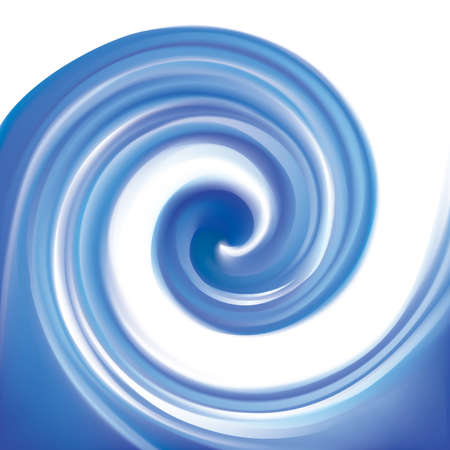 Curvy ultramarine rippled fond with space for text. Volute surface vivid deep cobalt iris color with glowing white center