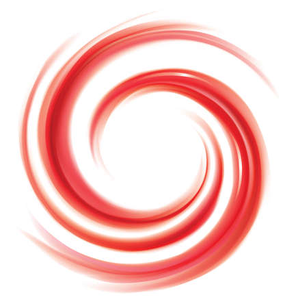 Glossy wavy eddy coral cycle backdrop. Coil syrup fluid surface deep claret color with space for text in white center. Appetizing mix gel jam of vibrant ruby cherry, bilberry, cowberry, foxberry