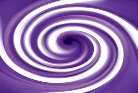 Glossy radial curvy fond with space for text in glowing white center. Gel fluid caramel surface. Appetizing mix jam of juicy plants dark lavender color: grape, bilberry, dewberry, whortleberry, plum