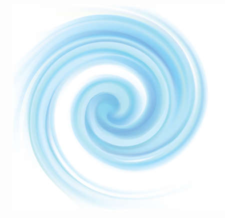 Bright teal helix vertigo curvy twister rotary moving spray new year winter cyclone surface. Volute gyration blur flow cool ice shiny pure vibrant celeste color illustration space for text in center