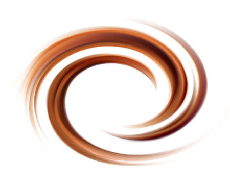 Soft wonderful mixed dark beige curvy eddy ripple luxury fond. Beautiful yummy volute fluid melt sweet choco cremy surface with space for text on glowing milky white stripe in middle of funnel